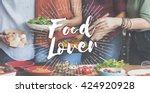 food mania foodie food lover... | Shutterstock . vector #424920928
