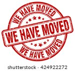 we have moved. stamp | Shutterstock .eps vector #424922272