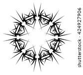 tattoo tribal vector design...   Shutterstock .eps vector #424927906