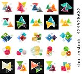 collection of geometric web... | Shutterstock .eps vector #424928632