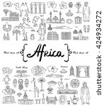 vector set with hand drawn... | Shutterstock .eps vector #424934272
