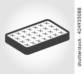 vector black mattress icon on... | Shutterstock .eps vector #424935088