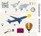 travel time vector design... | Shutterstock .eps vector #424935922