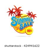 summer sale banner | Shutterstock .eps vector #424941622