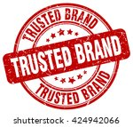 trusted brand. stamp | Shutterstock .eps vector #424942066