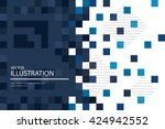 blue mosaic background  ... | Shutterstock .eps vector #424942552