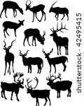 illustration with horned animal ...   Shutterstock .eps vector #42495415