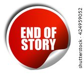 end of story  3d rendering  red ... | Shutterstock . vector #424959052