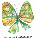 Butterfly Painted In Watercolo...