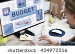 business person man working... | Shutterstock . vector #424972516
