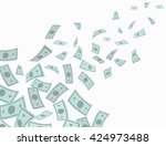 money rain falling from above.... | Shutterstock .eps vector #424973488