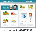 set of vitamins and minerals... | Shutterstock .eps vector #424974232