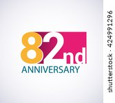 template logo 82nd anniversary  ... | Shutterstock .eps vector #424991296