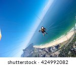 paragliding point of view | Shutterstock . vector #424992082