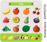tasty and healthy fruits ... | Shutterstock .eps vector #424992715