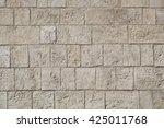 Wall Made From Limestone Brick...