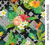 seamless pattern. tropical... | Shutterstock .eps vector #425020132