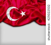 turkey abstract flag and plain... | Shutterstock . vector #425022532