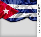 Cuba Abstract Flag And Plain...
