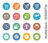 e commerce icons set 2   dot... | Shutterstock .eps vector #425024716