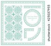 vintage frame pattern set 337... | Shutterstock .eps vector #425037955