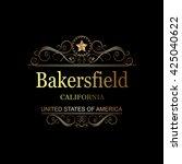 bakersfield california.vintage... | Shutterstock .eps vector #425040622