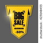 big sale banner design.vector... | Shutterstock .eps vector #425048455