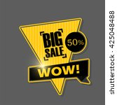 big sale banner design.vector... | Shutterstock .eps vector #425048488