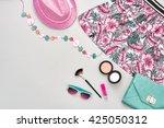 summer fashion.girl clothes... | Shutterstock . vector #425050312