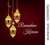 ramadan kareem greeting card  ... | Shutterstock .eps vector #425058592