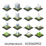 urban isometric icons for the