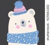 cute bear illustration for... | Shutterstock .eps vector #425061202