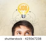 man think. | Shutterstock . vector #425067238
