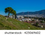 view to athens in january | Shutterstock . vector #425069602