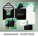 trendy tropical  jungle style... | Shutterstock .eps vector #425073235