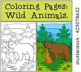 coloring pages  wild animals.... | Shutterstock .eps vector #425078632