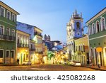 Colorful Colonial Houses At Th...
