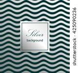 wave pattern. silver background.... | Shutterstock .eps vector #425090236
