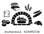 bakery icon set vector  | Shutterstock .eps vector #425090728