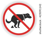 no dog poop sign. shitting is... | Shutterstock .eps vector #425091142