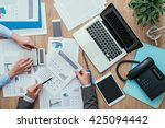business team working at office ... | Shutterstock . vector #425094442