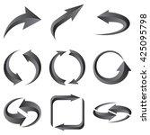 set of gray arrows. raster... | Shutterstock . vector #425095798
