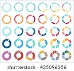 30 arrow pictogram refresh... | Shutterstock . vector #425096356