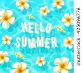vector illustration of summer... | Shutterstock .eps vector #425096776