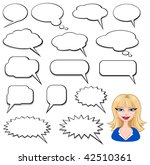 speech bubbles and girl avatar | Shutterstock .eps vector #42510361