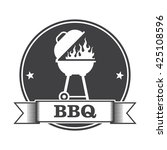 barbecue  bbq  and grill party... | Shutterstock .eps vector #425108596