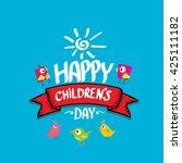 1 june international childrens... | Shutterstock .eps vector #425111182