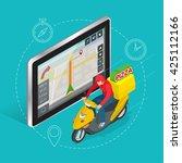 geolocation gps navigation... | Shutterstock . vector #425112166