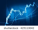 display of stock market quotes. ... | Shutterstock . vector #425113042