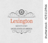 lexington kentucky.vintage... | Shutterstock .eps vector #425113966